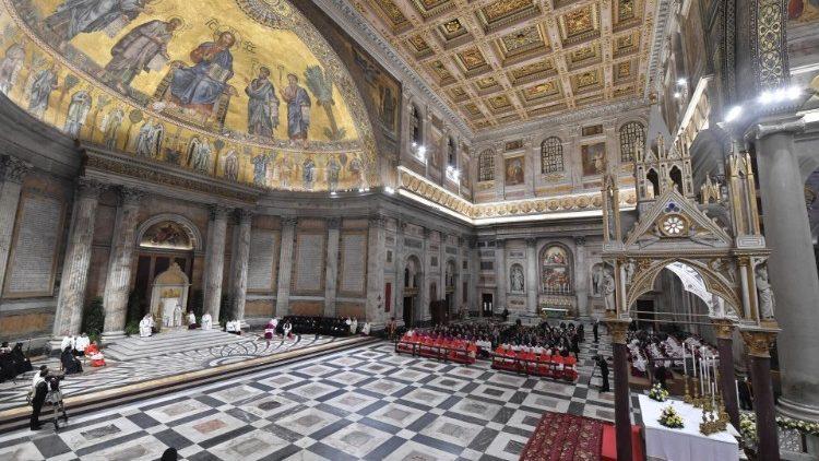 Basílica São Paulo fora-dos-muros em 25/01/2020 (imagem Vatican Media)