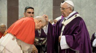 Papa Francisco em celebração das Cinzas (Imagem: Vatican Media)