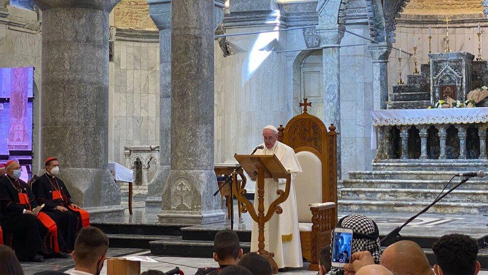 Papa no Iraque: Angelus 07/03/2021 (imagem: Vatican News)