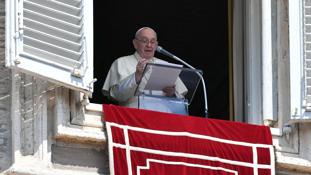 Papa no Angelus de 15/08/2021 (imagem: Vatican News)